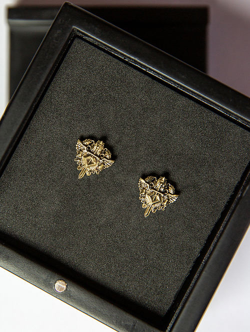 Gold Tone Handcrafted Collar Tips