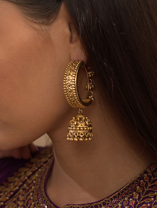 Gold Plated Silver Jhumki