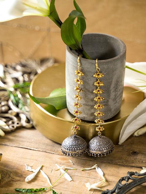 Dual Tone Jhumki earrings