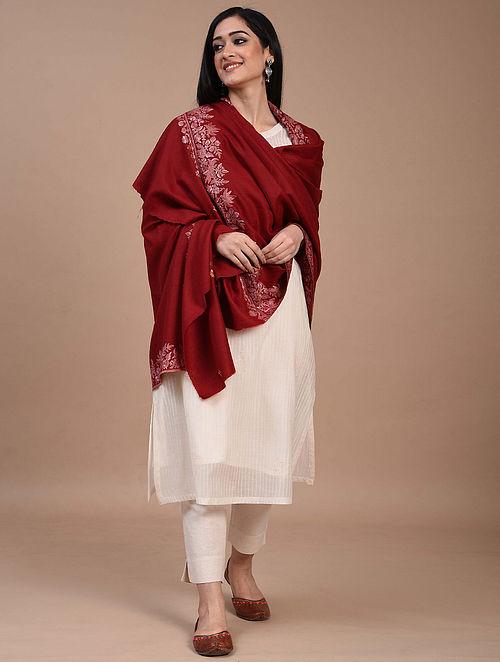 Red Paper Mache Pashmina Shawl