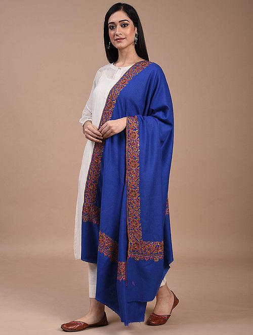 Blue Paper Mache Pashmina Shawl