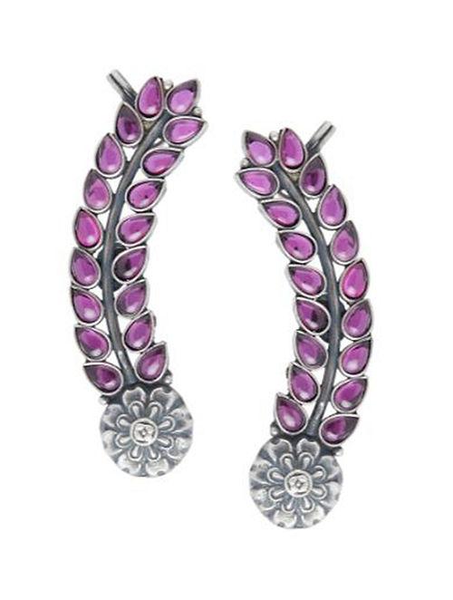 Pink Sterling Silver Earrings