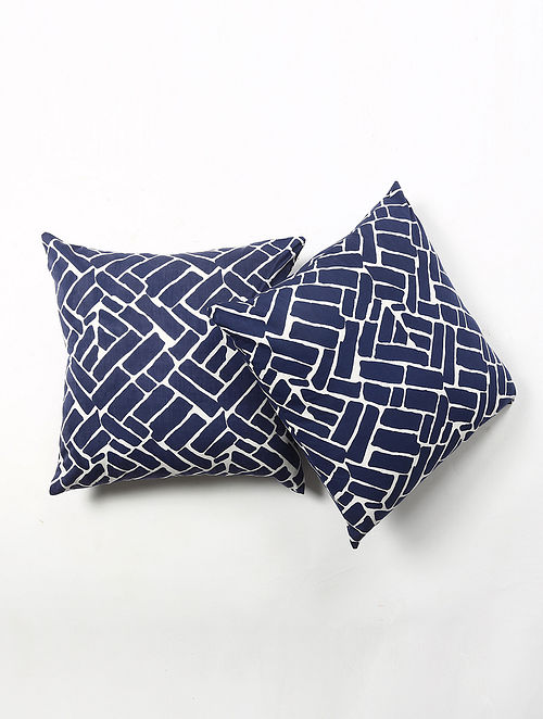 Contrast Living Giris Cotton Printed Cushion Covers (Set of 2) (20in x 20in)
