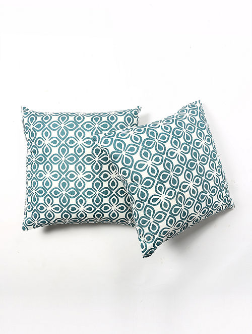 Contrast Living Rupeis Cotton Printed Cushion Covers (Set of 2) (20in x 20in)