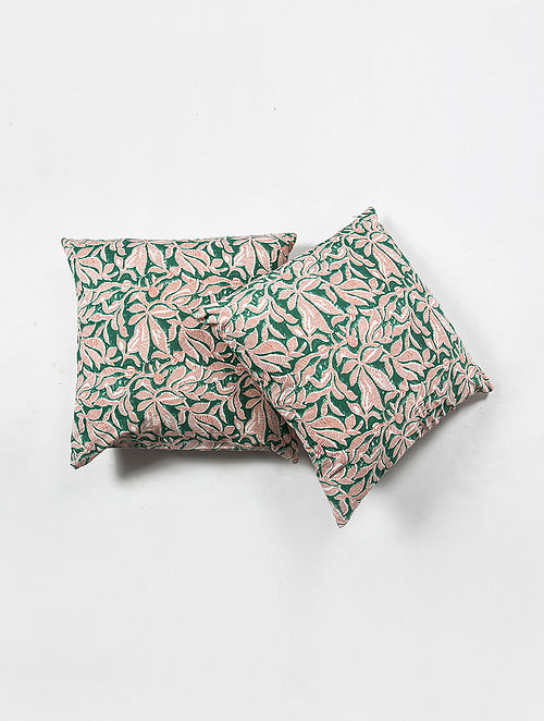 Contrast Living Jassi Cotton Printed Cushion Covers (Set of 2) (20in x 20in)
