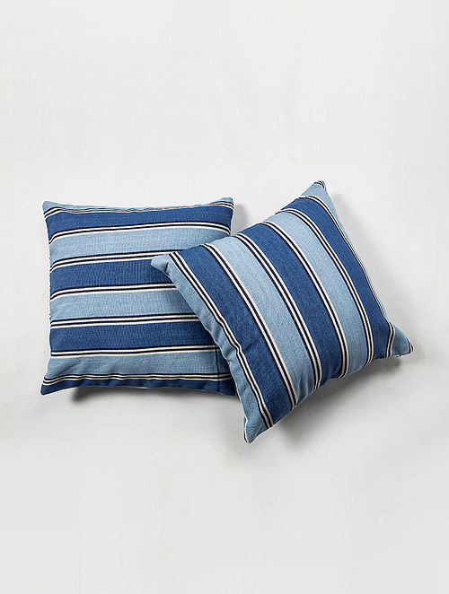 Contrast Living Russi Cotton Printed Cushion Covers (Set of 2) (20in x 20in)