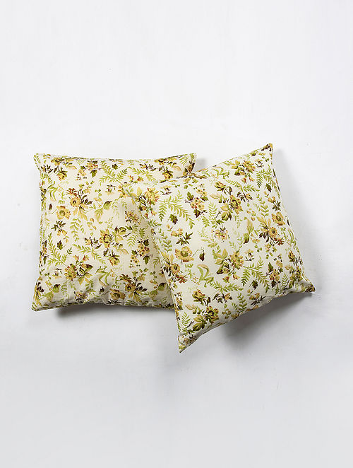 Contrast Living Balin Cotton Printed Cushion Covers (Set of 2) (20in x 20in)