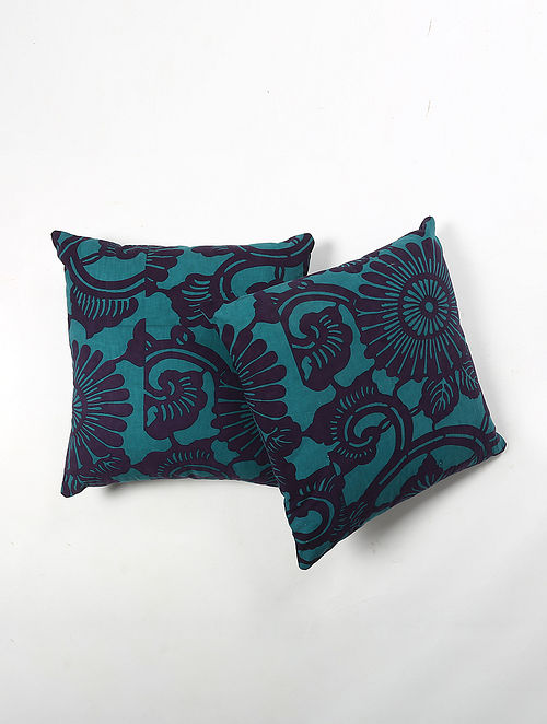 Contrast Living Porashi Cotton Printed Cushion Covers (Set of 2) (20in x 20in)
