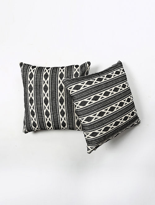 Contrast Living Rusin Woven Printed Cushion Covers (Set of 2) (20in x 20in)
