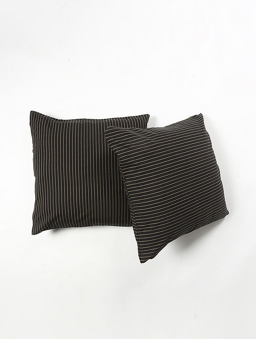 Contrast Living Kilap Cotton Printed Cushion Covers (Set of 2) (20in x 20in)