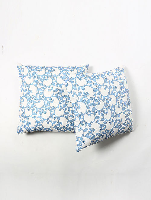 Contrast Living Jorais Cotton Printed Cushion Covers (Set of 2) (20in x 20in)