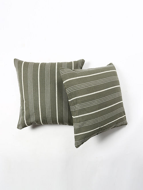 Contrast Living Guren Cotton Printed Cushion Covers (Set of 2) (20in x 20in)