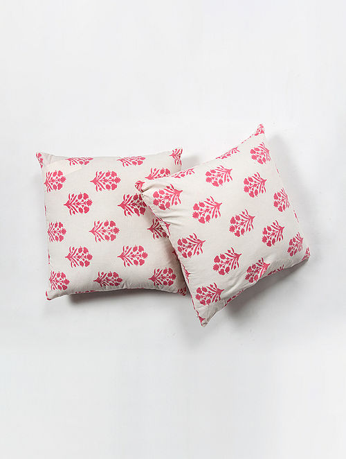 Contrast Living Kalpishn Cotton Printed Cushion Covers (Set of 2) (20in x 20in)