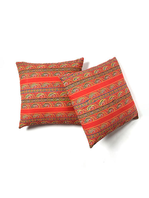 Contrast Living Robest Cotton Printed Cushion Covers (Set of 2) (20in x 20in)