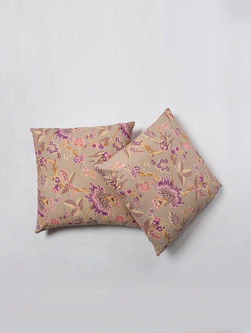 Contrast Living Orinam Cotton Printed Cushion Covers (Set of 2) (20in x 20in)