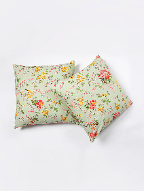 Contrast Living Daniesh Cotton Printed Cushion Covers (Set of 2) (20in x 20in)