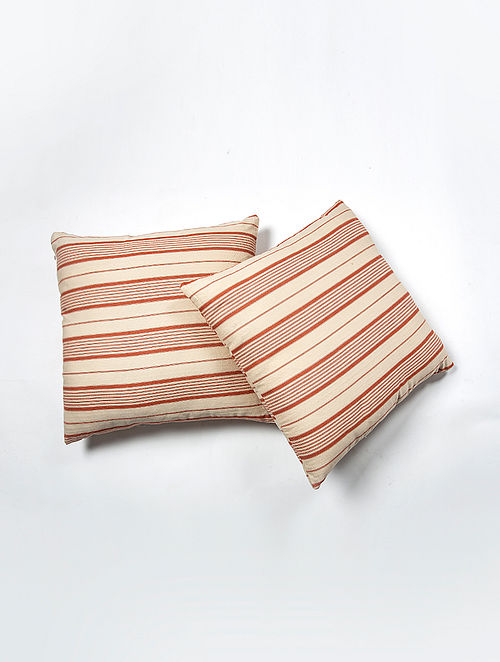 Contrast Living Rojas Cotton Printed Cushion Covers (Set of 2) (20in x 20in)