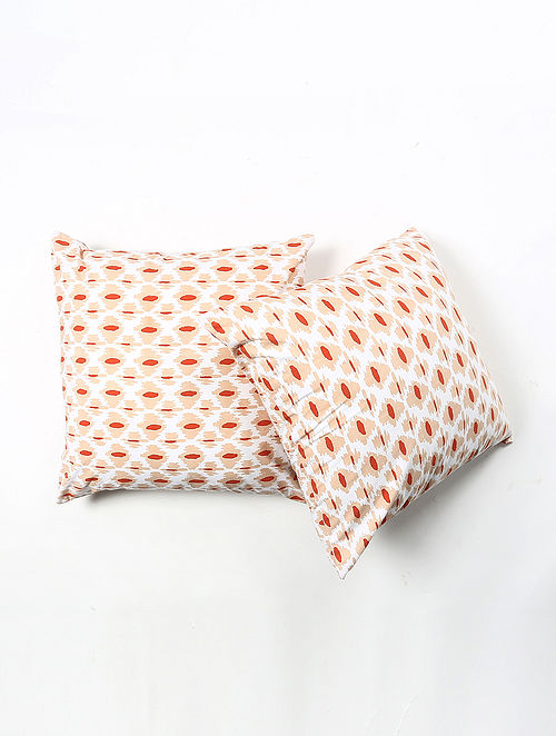 Contrast Living Trikes Cotton Printed Cushion Covers (Set of 2) (20in x 20in)