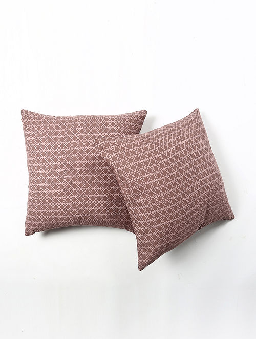 Contrast Living Uimrer Cotton Printed Cushion Covers (Set of 2) (20in x 20in)