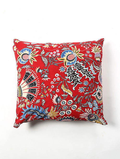 Contrast Living Fornes Cotton Printed Cushion Covers (Set of 2) (20in x 20in)