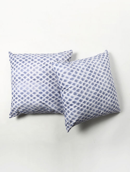 Contrast Living Desgise Cotton Printed Cushion Covers (Set of 2) (20in x 20in)