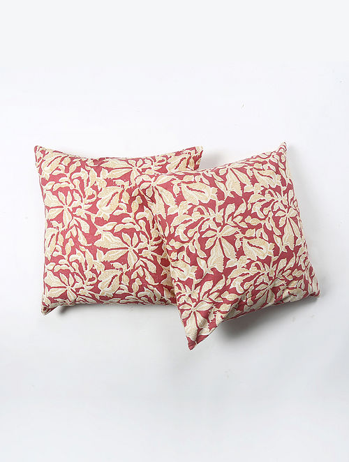 Contrast Living Shukle Cotton Printed Cushion Covers (Set of 2) (20in x 20in)