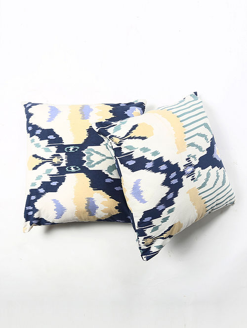 Contrast Living Zerin Cotton Printed Cushion Covers (Set of 2) (20in x 20in)