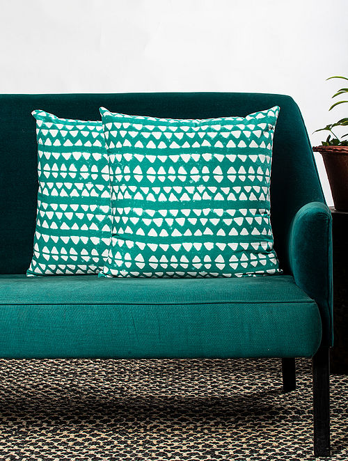 Contrast Living Lumins Cotton Printed Cushion Covers (Set of 2) (20in x 20in)