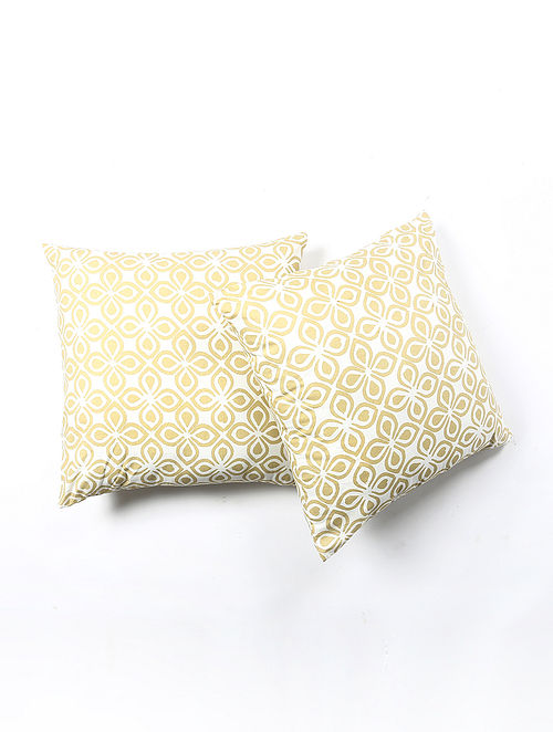 Contrast Living Woenrs Cotton Printed Cushion Covers (Set of 2) (20in x 20in)