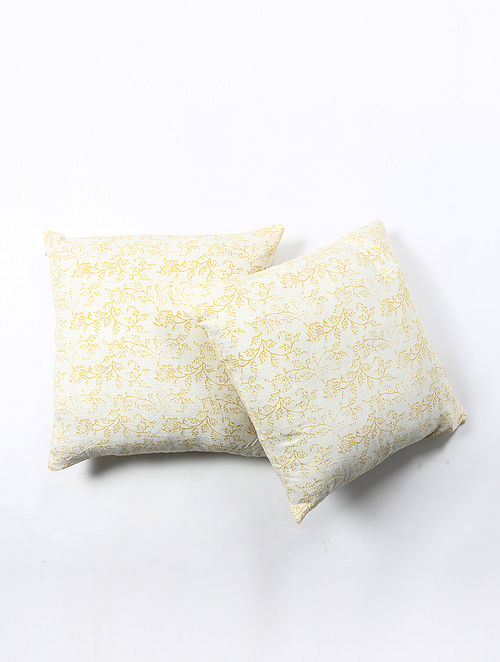 Contrast Living Joshei Cotton Printed Cushion Covers (Set of 2) (20in x 20in)
