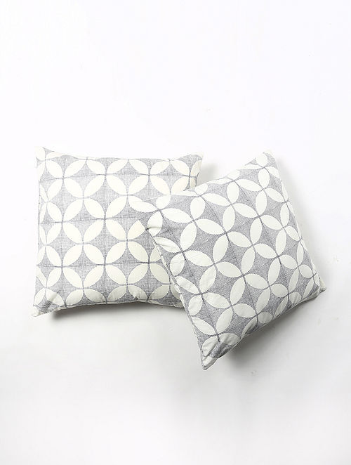 Contrast Living Kushi Cotton Printed Cushion Covers (Set of 2) (20in x 20in)