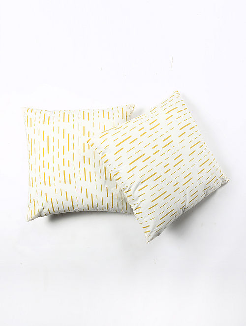 Contrast Living Kornes Cotton Printed Cushion Covers (Set of 2) (20in x 20in)