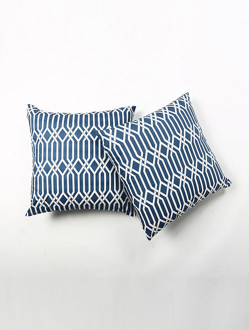 Contrast Living Srtie Cotton Printed Cushion Covers (Set of 2) (20in x 20in)