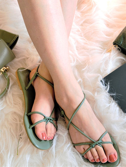 Olive Green Handcrafted Sandals