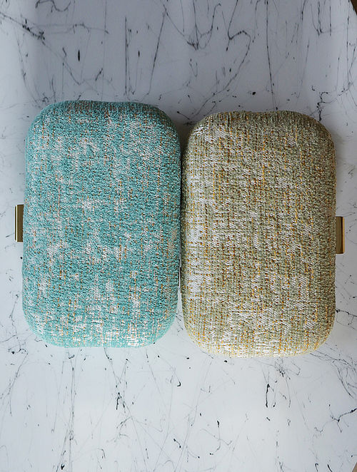 Sea Green Handcrafted Clutch