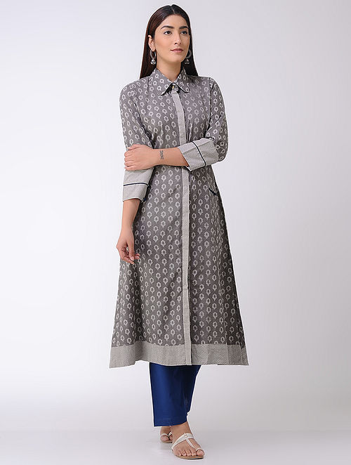 Kashish Dabu-printed Cotton Collared Kurta
