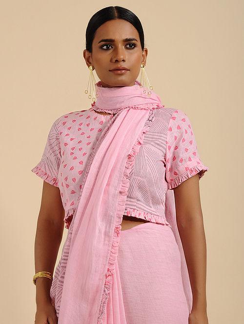 Perky Pink Printed Linen Blouse