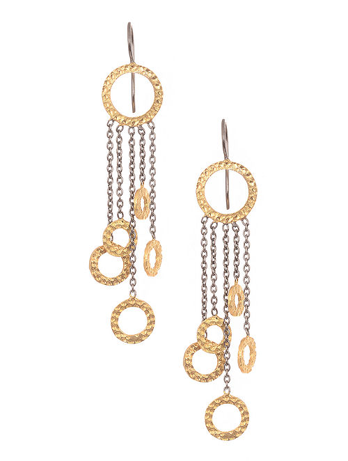 191106672 Buy Dual Tone Gold-plated Silver Earrings Online at Jaypore.com