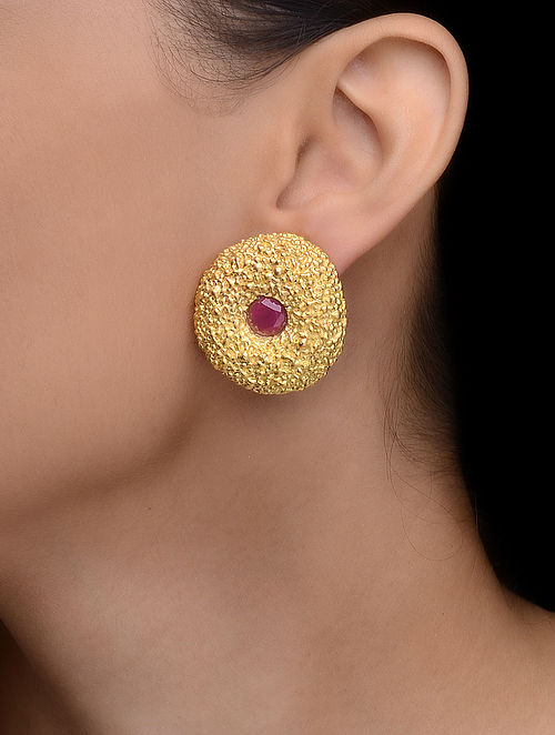 Pink Gold-plated Earrings