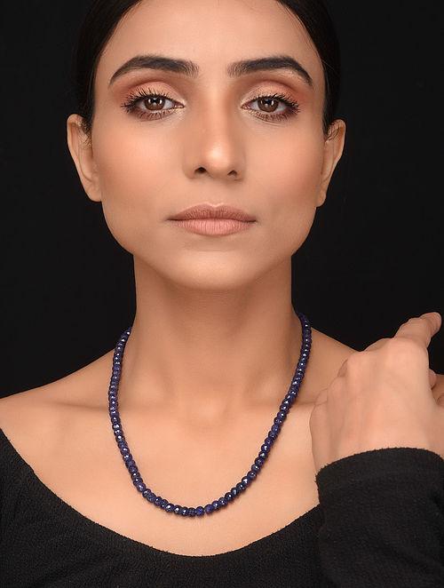Natural Corundum Sapphire Beaded Necklace