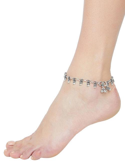 Tribal Sterling Silver Anklet