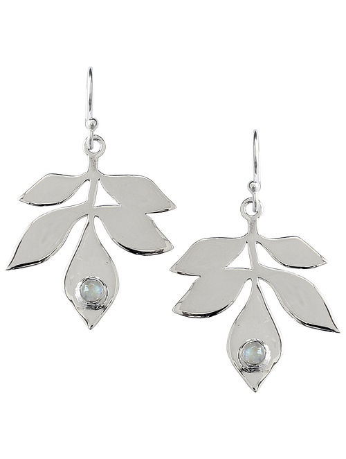 Grey Sterling Silver Earrings