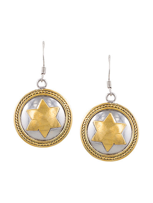Dual Tone Gold-plated Sterling Silver Earrings