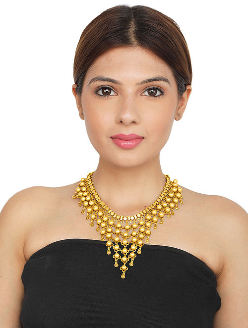 Eclectic Gold-plated Sterling Silver Necklace
