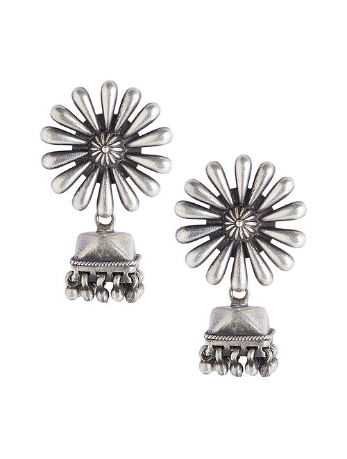 Tribal Sterling Silver Jhumkis