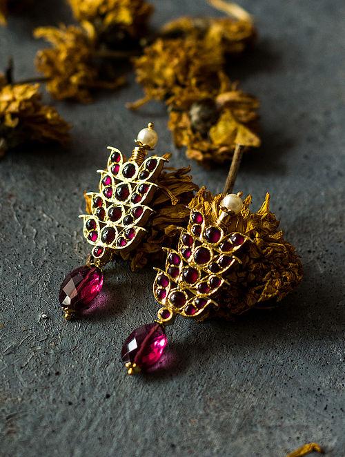 Rhodolite Gold-plated Silver Earrings