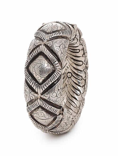 d4836c3844c Hinged Opening Tribal Silver Bangle (Bangle Size -2/8) Cuffs/Bracelets/ Bangles