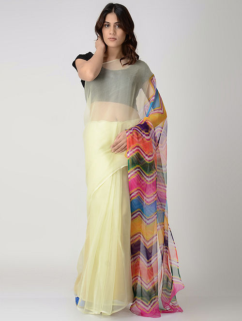 723916a666 Multicolor Leheriya Chiffon Saree Apparel, Jewelry, Accessories, And More