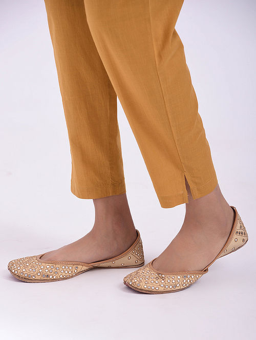 Mustard Elasticated Waist Cotton Pants