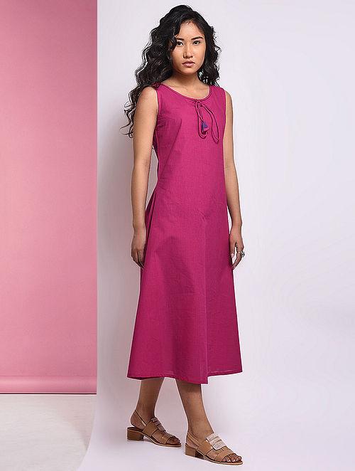 Pink Mangalgiri Cotton Dress